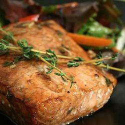 Baked Salmon with Mustard and Herbs