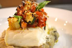 Baked Halibut Steak